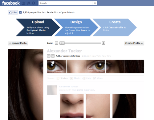 Create Facebook Profile Header With An Application