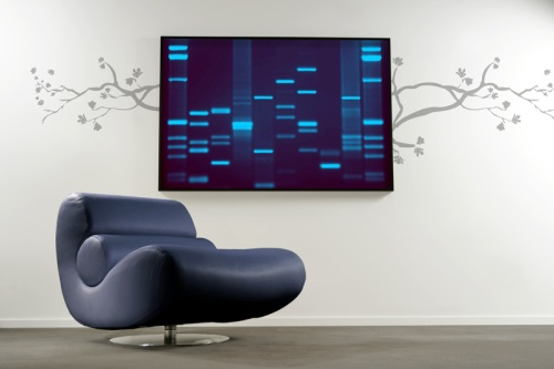 Blue DNA Painting