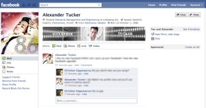 Example of a Facebook Profile Header