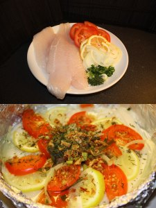 Steamed Pangasius fillets