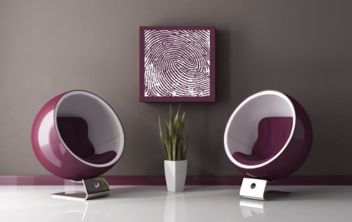 Purple Fingerprint Painting